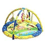XASY Baby Spielmatte Babyspielzeug, Blumen Spielbogen Erlebnisdecke Krabbeldecke mit Spielzeug und Musik Babybett