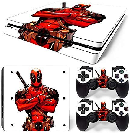 GoldenDeal Skin für PS4 Slim-Konsole und DualShock 4 Controller - Super Hero - PlayStation 4 Slim Vinyl