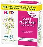 HiPP Babysanft Feuchttücher zart pflegend, 3er Pack (4 x 56),weiß