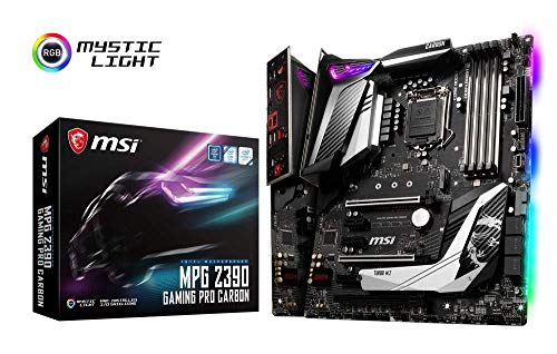 MSI MPG Z390 GAMING PRO CARBON - Placa base Performance (LGA 1151, Twin Turbo M.2, Mystic Light RGB LED, 3 x PCI-E x16, Core Boost, M.2 SHIELD FROZR, 5 x USB 3.1 Gen2, Audio Boost 4)