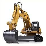 YIXINY 11 Kanal-voller Funktions-RC-Bagger angetriebener ABS Plastik + Legierungs-materieller elektrischer RC Fernsteuerungsbau-Traktor mit Lichtern und Ton