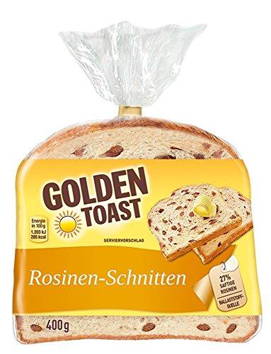 Golden Toast Rosinenschnitten, 400-g-Packung