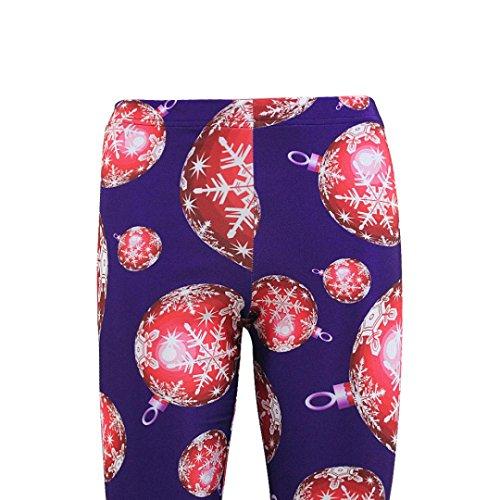 Ouneed® Femme Costume Imprime Legging en Polyester Violet