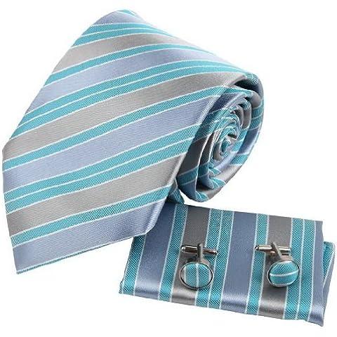 YAC2A04 Varios de colores Rayado Seda Corbata Pretty Gift Ideas 3PT por Y&G