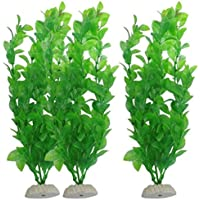 Ularma 3-Piece Aquarium Fish Tank Plants Green Water Grass Decorative Ornament 10.6 inch
