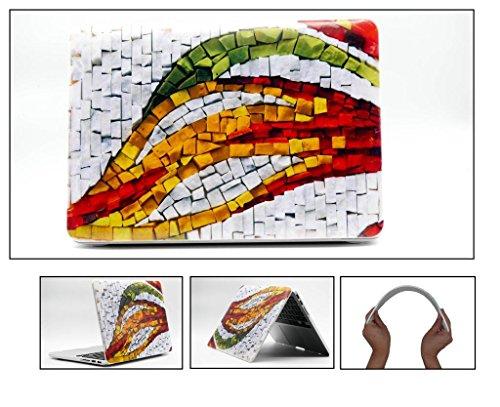 HYAIT 3d goffratura Colorful pietra patternpolycarbonate (PC) Ultra Sottile Custodia Rigida per Macbook Bronzo 13.3