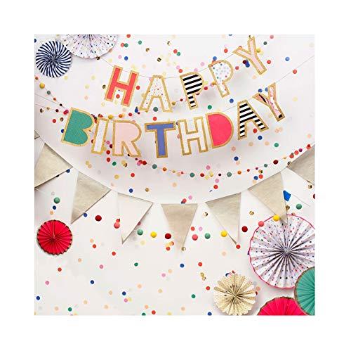 Cassisy 1,8x1,8m Vinyl Geburtstag Fotohintergrund Happy Birthday Banner Bunt Windräder Flaggen Bälle Fotoleinwand Hintergrund für Fotostudio Requisiten Party Baby Kinder Photo Booth