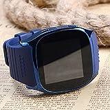 Smart Watch Bluetooth mit SIM Card Slot, Touchscreen Bildschirm Smartwatch Sport Sleep Activity Monitor Fitness Tracker Unterstützung TF Karte Texte Anrufe Social Media Benachrichtigungen für iOS Android (blau)