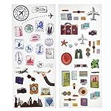 KODAK Farbige und dekorative Reise-Sticker für 2x3 Fotopapier (Printomatic, Mini Shot, Mini 2) - 2 einzigartige Blätter
