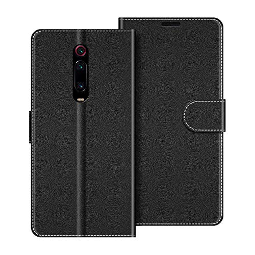COODIO Coque en Cuir Xiaomi Mi 9T, Étui Téléphone Xiaomi Mi 9T, Housse Pochette Xiaomi Mi 9T Pro Fonction Stand Etui Coque pour Xiaomi Mi 9T / 9T Pro, Noir