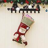 DAMENGXIANG Eine Große Größe Weihnachtsgeschenkbeutel Weihnachtsstrumpf Anhänger Süßigkeiten Tasche Weihnachtsbaum Neujahr Dekor Elch