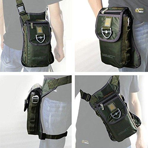 Innturt - Borsa messenger impermeabile in nylon tecnico, Army Green Army Green