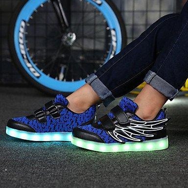 aemember ragazza 'scarpe comfort novità luci Sport Primavera Autunno Mesh traspirante in microfibra Track & campo scarpe casual Outdoor LED tacco piatto US11.5 / EU29 / UK10.5 Little Kids