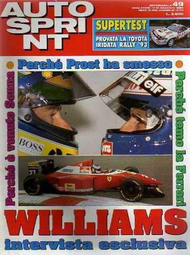 Autosprint Auto Sprint 49 Dicembre 1993 Toyota Iridata Rally 93 Senna