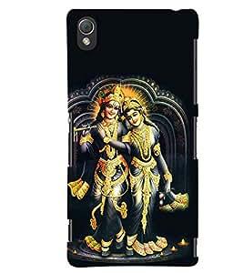 printtech Radhe Krishna Back Case Cover for Sony Xperia Z3+::Sony Xperia Z3 Plus