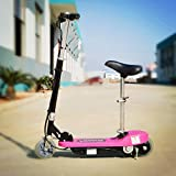 Kids Electric Scooter E Scooter E-scooter Pink 120W Motor 24V Rechargeable Battery Powered