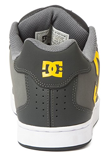 Dc Shoes Net M, Baskets mode homme Gris - Grey/Yellow