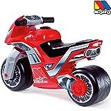 Rutsch Motorrad mit breiten Reifen, dient als Lauflernhilfe für die Kleinen, 73 cm, geeignet für Innen und Außen, Robust, Lauflernrad fürs Gleichgewicht, Kinder Bike, Motorrad Roller ab 18 Monaten Rot
