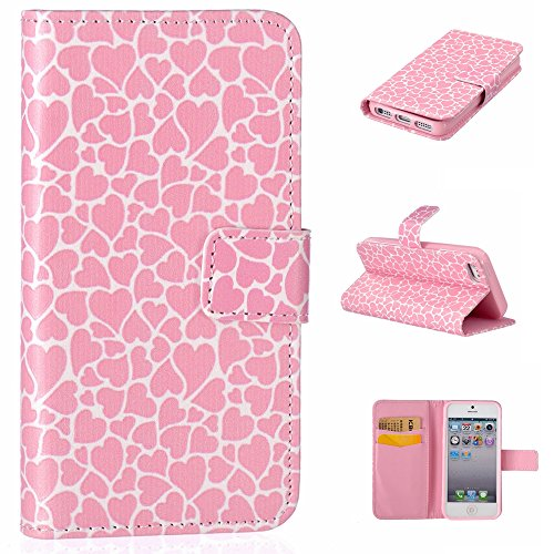 Linvei SE-Cover per Iphone 4, Iphone 5/5C. Iphone 6 Plus, Pink Heart, iPhone 5/SE