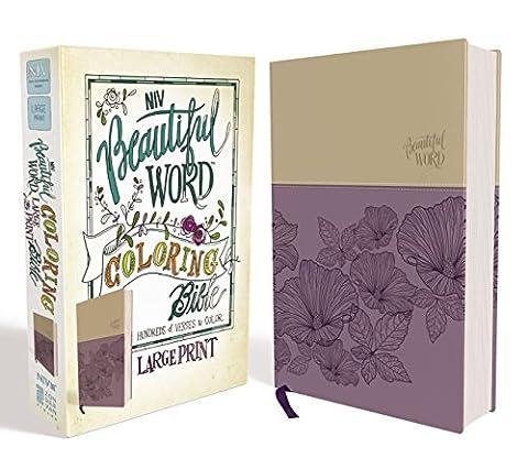 Holy Bible: New International Version, Beautiful Word Coloring Bible, Purple/tan, Imitation Leather