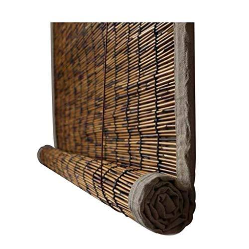 LHYY ZXF@ Rollo-Reed-Vorhang Bambus-Vorhang Naturrollo-Trennvorhänge, Wasserdicht Und Feuchtigkeitsbeständig Kohlensäurehaltiges Schilfrohr, Eingefasst, Für Den Außen- Und Innenbereich