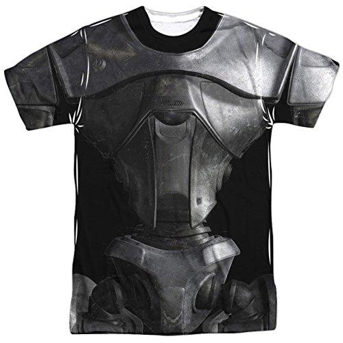 Kampf stern galacticacenturion kostüm T-shirt für Herren XXX-Groß Weiß (Galactica Kostüme)