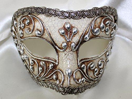 Máscara veneciana plata