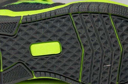 Kinder Sportschuhe, leicht und bequem, dunkelgrau/neongrün, Gr. 25-36 Dunkelgrau/Neongrün