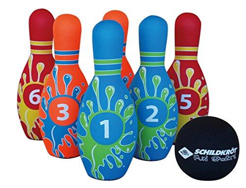 Schildkröt Funsports Kegel Set Bowling im Meshbag, 970129