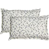 Contrast Living Printed Floral Print Design Provance French Style Cotton Printed Pillow Cover With Set Of 2 Pcs (Size- 45x70 Cm/2.5 Cm Flange)