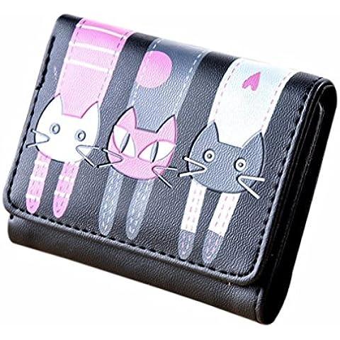 Portafoglio Clode® Donne Cat Modello Della Borsa Della Moneta Titolari Breve Portafoglio Carta Borsetta