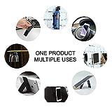 #9: Set of 2 pcs Anti-Slip Washable Nano Gel Pad Sticker Magic Mat for Smart Mobile Phone, Car Dashboard, Wall, Kitchen, Workshop - DOMO nMount NP1 Mount Bone and Rectangle Shape Holder Bracket Pods