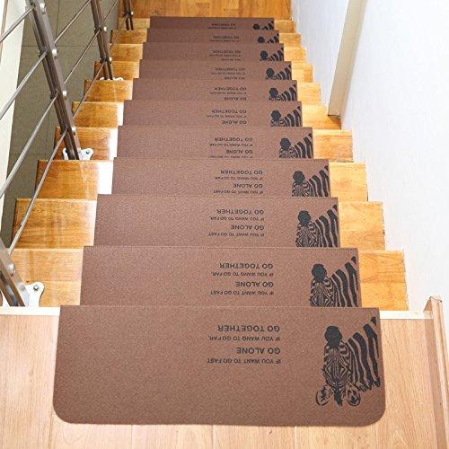 Felpudos Frikis Escaleras alfombra antideslizante esteras, 550x205x45mm,5 Pack,D