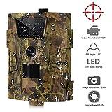Gfyee Wildkamera 12MP 1080P HD Beutekameras mit 120°Weitwinkel 20m Infrarote Nachtsicht, 30 IR LEDs, wasserdichte IP54 Jagdkamera mit Bewegungsmelder für Jagd & Wildes und Haussicherheit