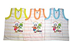 BelleGirl 100% Cotton Tshirt Combo With White Colour Base 0-3M, Pack of 3