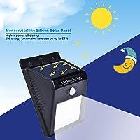 Energia solare impermeabile alimentato LED del sensore di movimento di sicurezza della luce esterna lampada chiara luminosa con 3 Intelligient modalità per il giardino, all