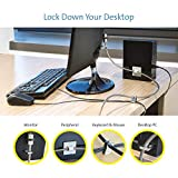 Kensington Desktop PC & Peripheral, Highest Security Locking Kit with Hidden Pin Technology, Cut-Resistant Carbon Steel Cable and Multi-Piece Security - 2.4m Length (K64615EU)