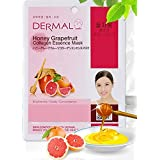 Dermal Korea Collagen Essence Mask - Honey Grapefruit (10 pack)