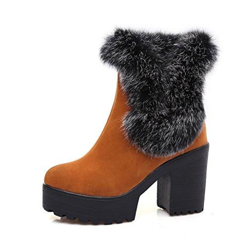 Da donna Taglia larga Femmina scarpa Macchia stivali da neve Ruvido con Piattaforma impermeabile Stivali Yellow
