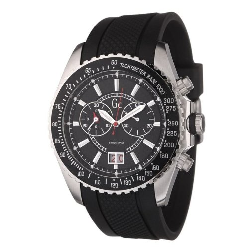 Guess - I30005G1 - Montre Homme - Quartz Analogique - Chronographe - Bracelet en caoutchouc Noir