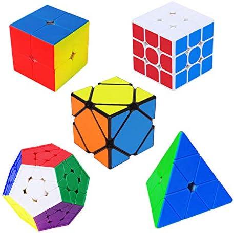 GYFY Speed Cube Cube Professionnel Classique Puzzle tordu Jouet Jouet Jouet éducatif du Monde Record de la Concurrence de deuxième Ordre de troisième Ordre Pyramide Oblique Cinq Magic Cube (Cinq en Un) 287c1f