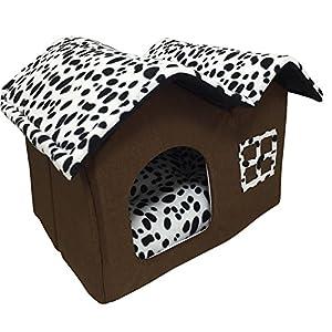 Animal Maison Lit Panier Niche Chien Chat Forme Souple Comfortable