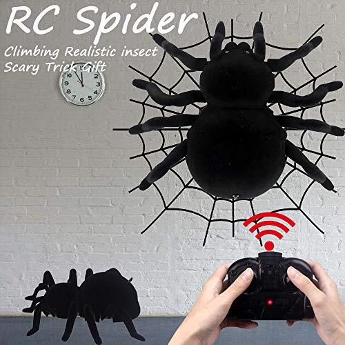 Wokee RC Spinne ferngesteuerte Riesenspinne 18 × 15 × 5 cm,Furchtsamer Trick Erschrockenes Elektronisches RC Streich Spielzeug Simulations Spider