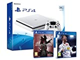 PS4 Slim 500 GB weiß Playstation 4 Konsole - Pack 2 Spiele - FIFA 18 + Bloodborne GOTY