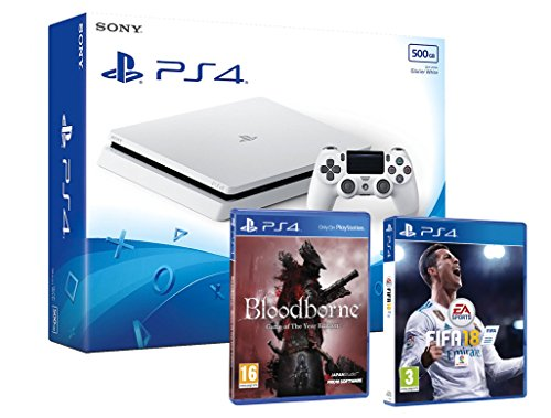 PS4 Slim 500Gb Blanca Playstation 4 Consola - Pack 2...