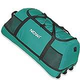 Nowi XXL Riesen Reisetasche mit 3 Rollen Volumen 100-135 Liter Rollenreisetasche 81 cm petrol