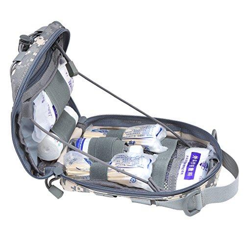 51CjSIOOkvL - Botiquín de primeros auxilios EMT Bolsa táctica compacta MOLLE Botiquín médico 1000D para viajes en el lugar de trabajo al aire libre en el hogar (gris)