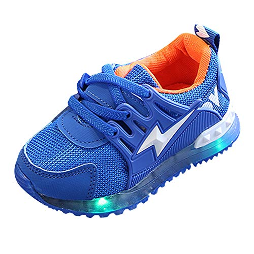Zerototens Baby Sport Shoes,1-6 Years Old Toddler Kids Mesh Letter Athletic Shoes Children Trainers Led Light Up Luminous Sneakers Boots Soft Bottom Outdoor Non-Slip Running Shoes
