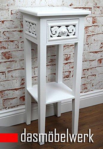 Preisvergleich Produktbild dasmöbelwerk Telefontisch Rosali Beistelltisch Konsole Nachttisch antik weiß Retro Design Landhaus 01.002.01