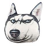 ChezMax Kuscheltier Hundekopf Husky PP Baumwolle Kissen mit Blauen Augen und 50cm/0.75kg für Kinder und Erwachsene Weich Plüschtier